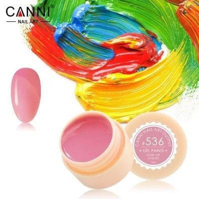 Гель-краска Canni 536 серо-розовая, фото 2