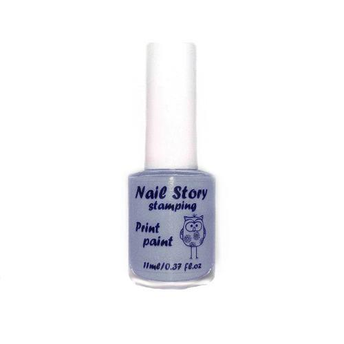 Лак для стемпинг Nail Story № 06 серый, 11 мл