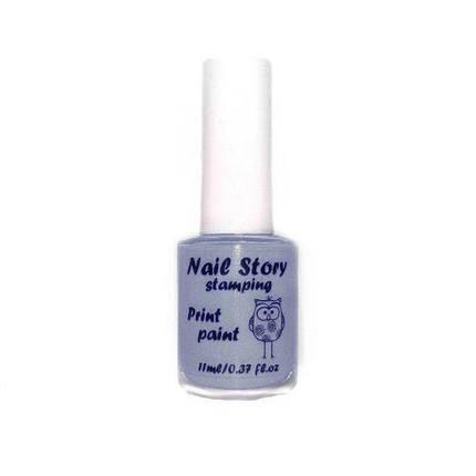 Лак для стемпинг Nail Story № 06 серый, 11 мл, фото 2
