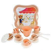 """Набор посуды """"Модное чаепитие"""", 22 эл, игрушки для девочек,дитяча кухня,Игрушечный набор посуды"""