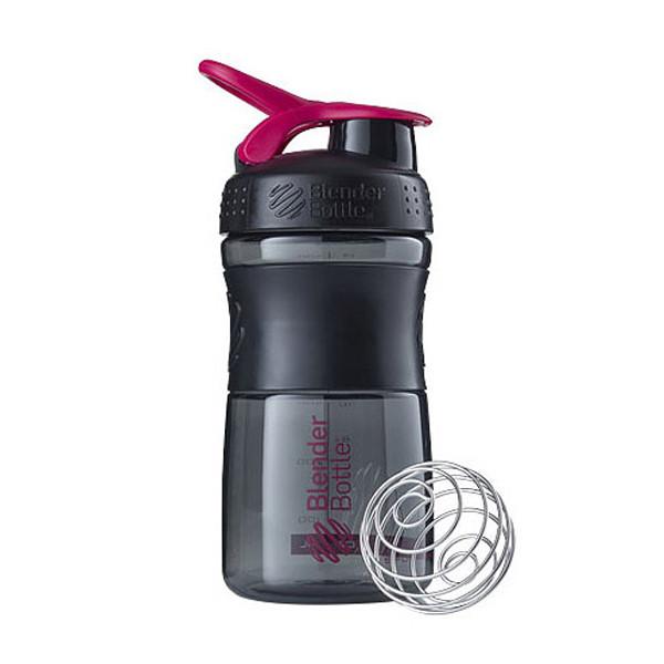 Спортивная бутылка-шейкер BlenderBottle SportMixer 590ml Black/Pink (ORIGINAL)