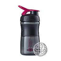 Спортивная бутылка-шейкер BlenderBottle SportMixer 590ml Black/Pink (ORIGINAL), фото 1