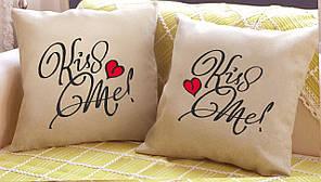 "Набор из двух подушек №36 ""Kiss Me"""
