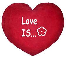 "Подушка-Валентинка в форме сердца  ""Love is..."""