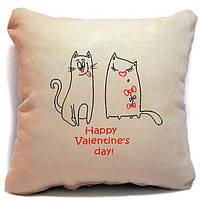 """Подушка-Валентинка  """"Happy Valentine's day"""""""