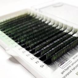 Ресницы Nagaraku (Нагараку) MIX 0.07C зеленые