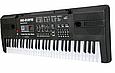 Піаніно, синтезатор з радіо MQ 012 FM. Працює від мережі. Мікрофон. 61 клавіша., фото 2
