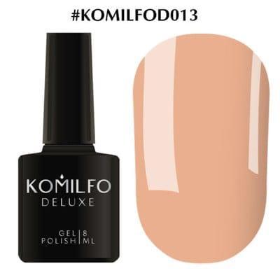 Гель-лак Komilfo Deluxe Series №D013 бежево-карамельный эмаль 8 мл