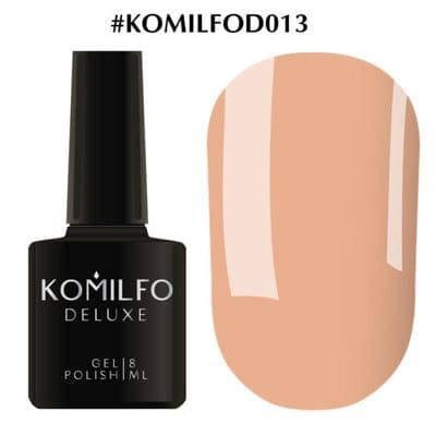 Гель-лак Komilfo Deluxe Series №D013 бежево-карамельный эмаль 8 мл, фото 2