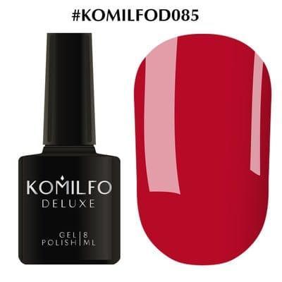 Гель-лак Komilfo Deluxe Series №D085 малиново-красный эмаль 8 мл