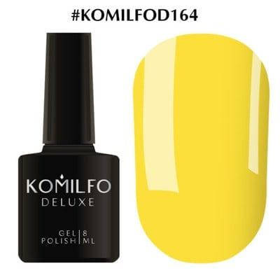 Гель-лак Komilfo Deluxe Series №D164 ярко-желтый эмаль 8 мл, фото 2