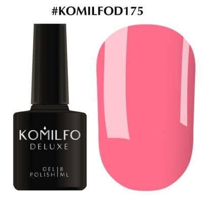 Гель-лак Komilfo Deluxe Series №D175 нежный насыщенный розовый эмаль 8 мл, фото 2
