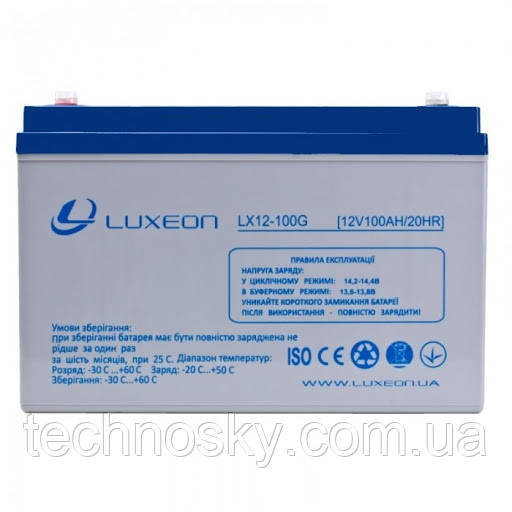 Гелевый аккумулятор GEL-VRLA Luxeon LX12-100G