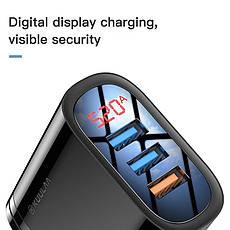 Зарядное устройство KUULAA KL-CD10 30 вт 3 USB порта Быстрая зарядка Quick Charge QC3.0 White, фото 3
