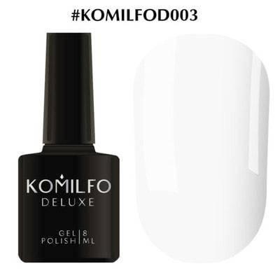 Гель-лак Komilfo Deluxe Series №D003 белый эмаль 8 мл, фото 2