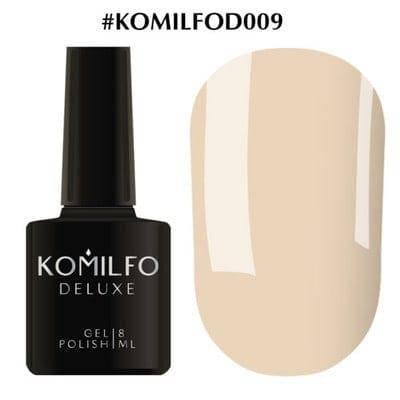 Гель-лак Komilfo Deluxe Series №D009 нюдовый эмаль 8 мл, фото 2