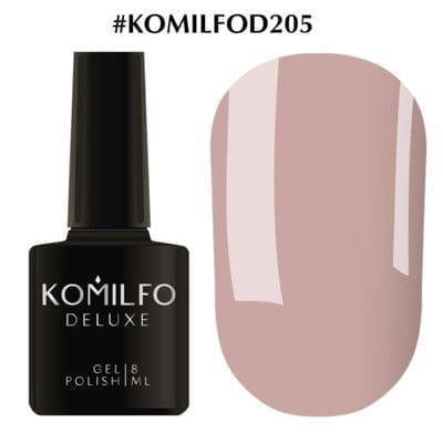 Гель-лак Komilfo Deluxe Series №D205 какао молочный шоколад эмаль для френча 8 мл