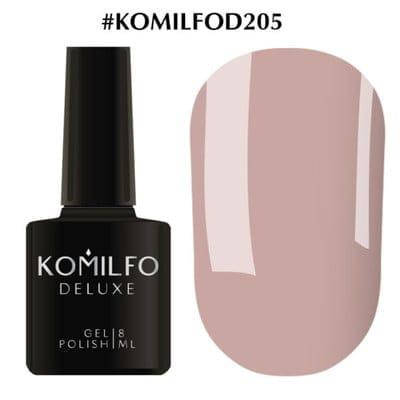 Гель-лак Komilfo Deluxe Series №D205 какао молочный шоколад эмаль для френча 8 мл, фото 2