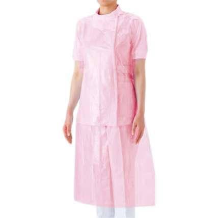 Фартук Panni Mlada одноразовый полиэтиленовый 100 шт / уп розовый, фото 2