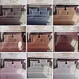 Комплект постельного  белья Страйп Сатин Серый, фото 3