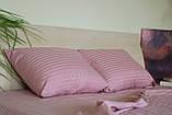 Комплект постельного  белья Страйп Сатин Серый, фото 10