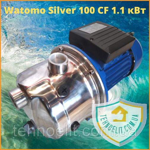 Бытовой наружный водяной насос для насосной станции водоснабжения частного дома Watomo Silver 100 CF 1.1 кВт