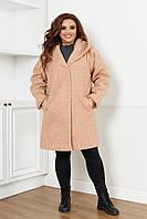 Пальто женское большого размера барашек букле