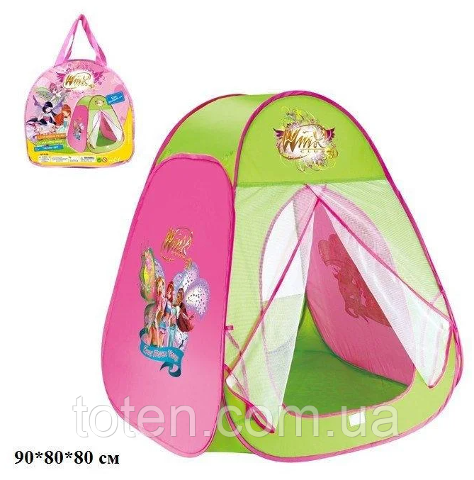 """Детская Игровая палатка 815S """"Клуб Винкс -  Winx"""" 90-80-80 см"""