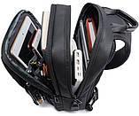 Однолямочный рюкзак Bange BG-77107 мужской городской USB-порт 5л черный, фото 4