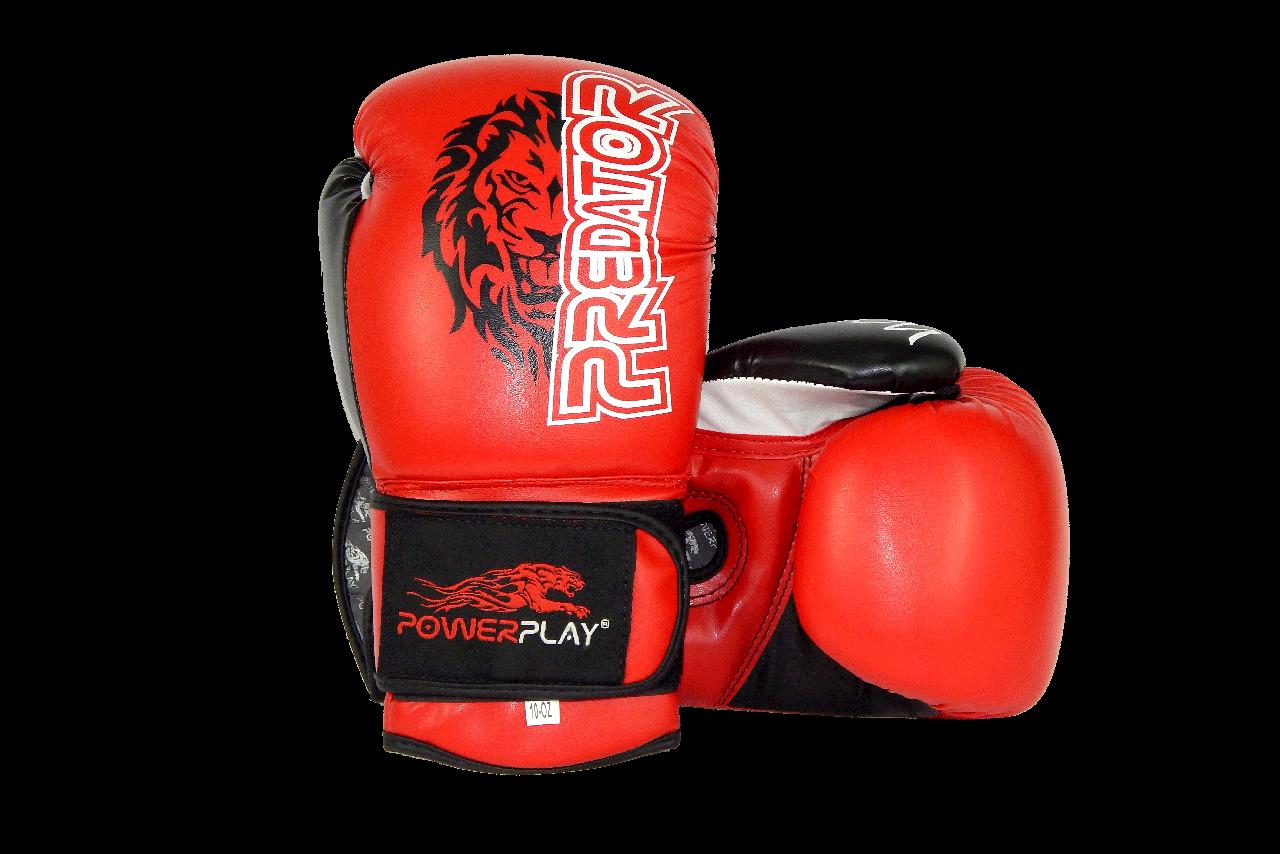 Боксерские перчатки PowerPlay 3006 Красные 10 унций
