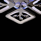 Хромированная светодиодная люстра квадраты 85 Вт с лед подсветкой и диммером D-S9068/4HR LED, фото 5