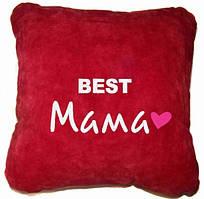 """Сувенірна подушка """"Best Мама"""" №102"""
