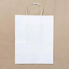 Пакет бумажный белый с крученными ручками 260х150х350 мм., фото 3
