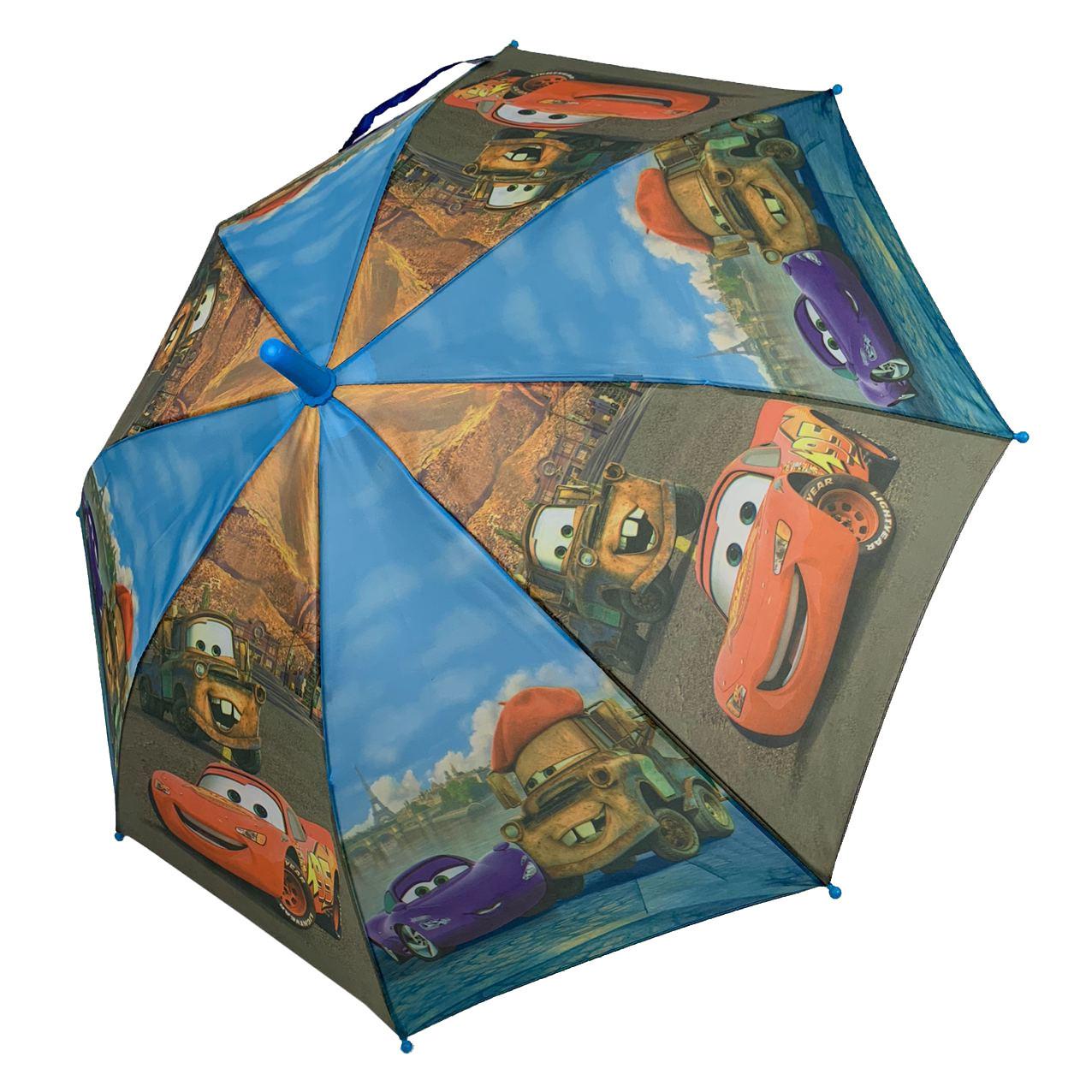 """Дитячий парасольку-тростину """"Тачки-Маквін"""" зі свистком для хлопчика від Max, блакитний, 009-1"""