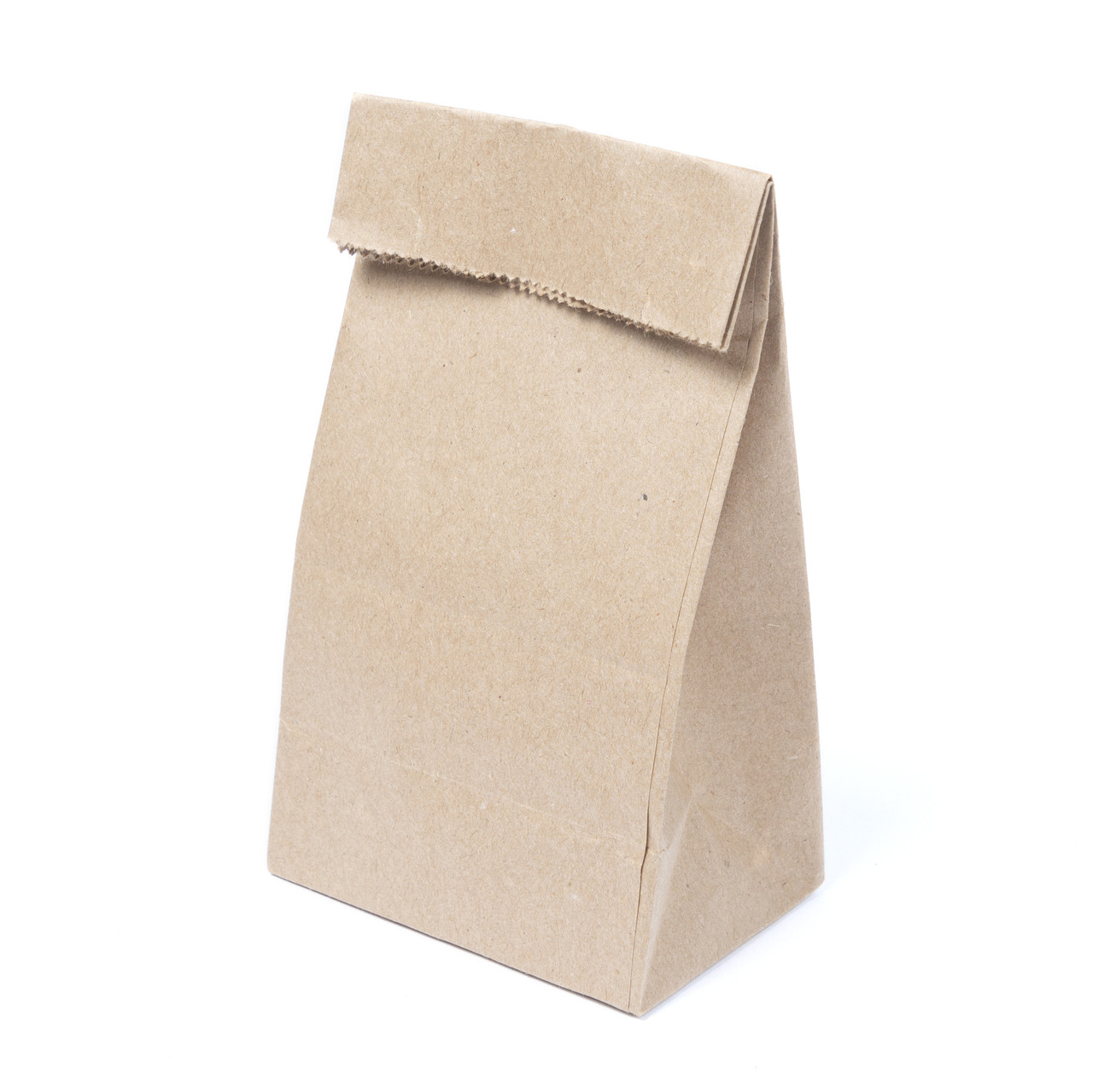 Бумажный пакет для чая и кофе с дном 90*65*210 бурый