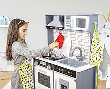 Детская деревянная кухня AVKO Ауріка C493 + посуда, фото 3