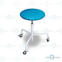 Стул для врача (стул медицинский на колесах) СВ-П передвижной винтовой без спинки Завет