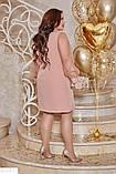 Нарядное женское платье батал большие Размеры, фото 3