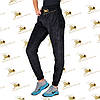 Велюрові черного кольору на меху штанишки на манжеті розмір, фото 2