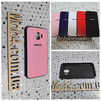 Чехол Стекло Бренд (обод силиконовый) для Samsung Galaxy (Самсунг Гелекси) J2 PRO 2018