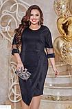Красивое платье с люрексом батал большие Размеры, фото 5