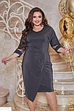Красивое платье с люрексом батал большие Размеры, фото 4