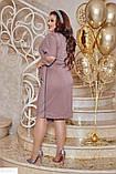 Красивое платье с люрексом батал большие Размеры, фото 3