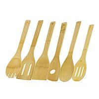 Бамбуковый набор кухонных аксессуаров 6 предметов, бамбуковый набор кухонных аксессуаров 6 предметов,