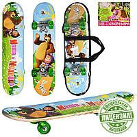 Скейтборд детский Profi MM 0009 Маша и Медведь, зеленый Т
