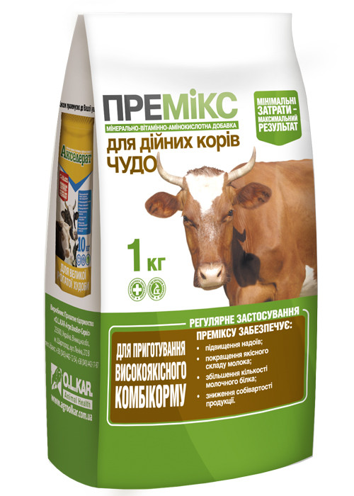 Премикс ЧУДО для дойных коров (дійних корів) 1 кг O.L.KAR.