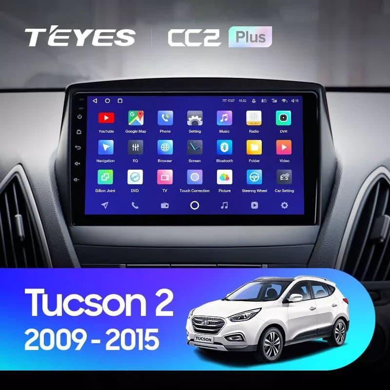 Штатная магнитола TEYES CC2 Plus Hyundai Tucson 2 LM IX35 2009 - 2015 Android 10
