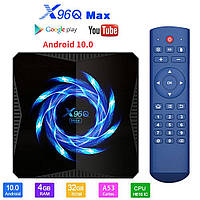 TV-Приставка X96Q MAX 4/32GB Android 10.0 ALLWINNER H616 (Android Smart TV Box)