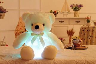 Світиться ведмедик, 45 див. м'який плюшевий ведмедик для подарунка рожевий Білий