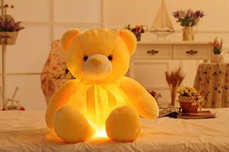 Світиться ведмедик, 45 див. м'який плюшевий ведмедик для подарунка рожевий Жовтий